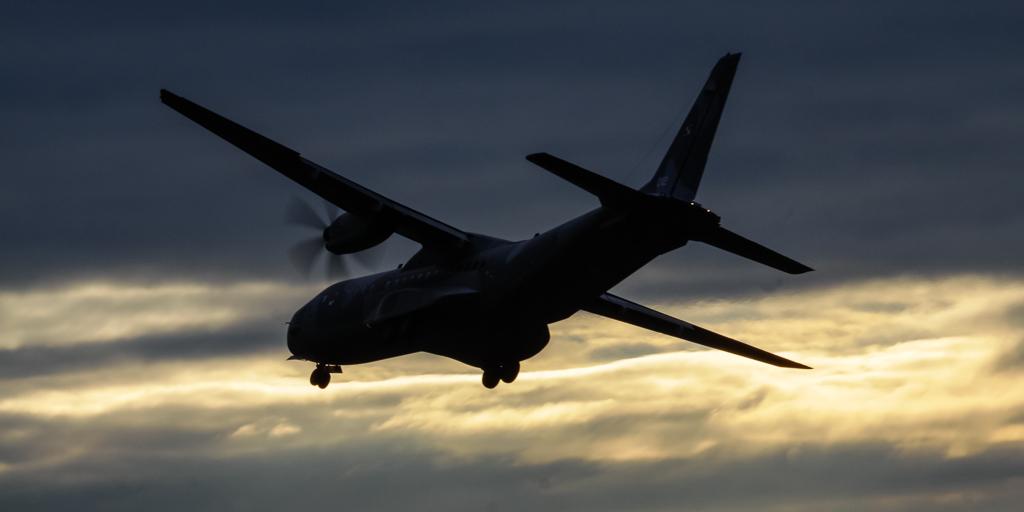 Casa C-295 landing in Krakow
